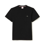Lacoste L!VE Jersey Cotton Crew Neck T-Shirt Black