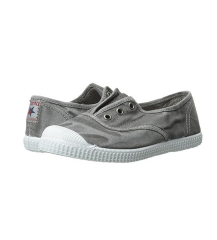 Cienta 70777 Distressed Light Grey Canvas Laceless Sneaker