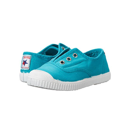 Cienta 70997 Turquoise Canvas Laceless Sneaker