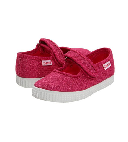 Cienta Girl's 56013 Fuchsia Sparkle Mary Jane