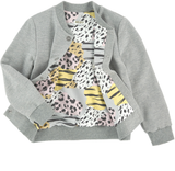 KENZO KIDS KJ17048 GREY BEST CARDIGAN