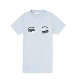 Chiara Ferragni flirting eyes t-shirt