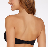 CALVIN KLEIN NAKED GLAMOUR STRAPLESS PUSH-UP BRA BLACK