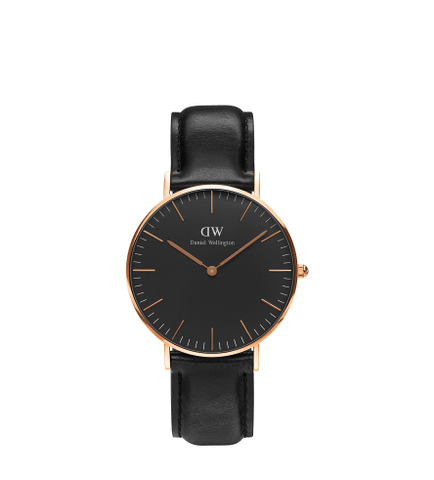 DANIEL WELLINGTON CLASSIC BLACK SHEFFIELD GOLD 36MM
