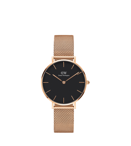 DANIEL WELLINGTON CLASSIC BLACK MELROSE GOLD 32MM