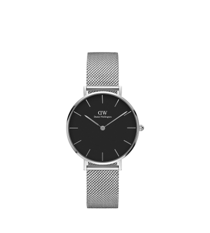 DANIEL WELLINGTON CLASSIC BLACK STERLING SILVER 32MM