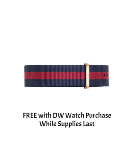 DANIEL WELLINGTON WATCH BAND NATO STRAP OXFORD 20MM