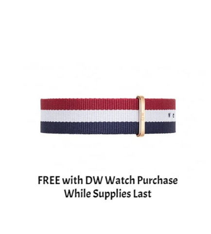 DANIEL WELLINGTON WATCH BAND NATO STRAP CAMBRIDGE 20MM