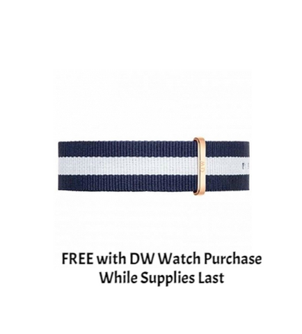 DANIEL WELLINGTON WATCH BAND NATO STRAP GLASGOW 20MM