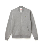 LACOSTE LIVE ZIP BOMBER NECK FLEECE SWEATSHIRT UNISEX PALLADIUM MOULINE