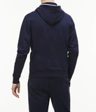 LACOSTE LIVE HOODED ZIPPERED COTTON UNISEX SWEATSHIRT NAVY