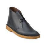 CLARKS Desert Boot Midnight Blue Leather 26109445