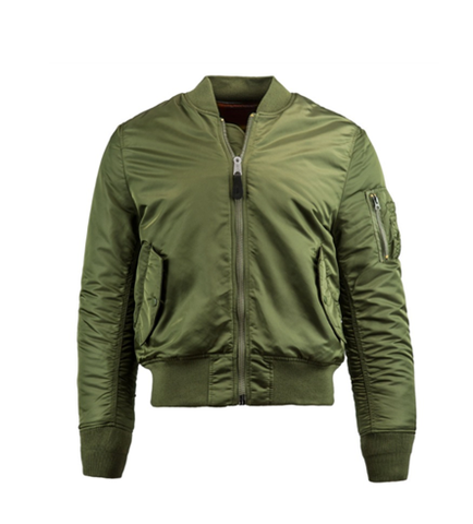 Alpha Industries MA-1 SLIM FIT FLIGHT JACKET SAGE GREEN