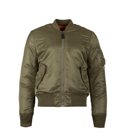 Alpha Industries MA-1 SLIM FIT FLIGHT JACKET VINTAGE OLIVE