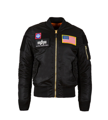 Alpha Industries MA-1 FLEX SLIM FLIGHT JACKET BLACK