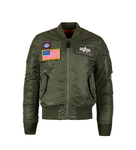 Alpha Industries MA-1 FLEX SLIM FLIGHT JACKET SAGE GREEN
