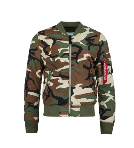 Alpha Industries L-2B DRAGONFLY BLOOD CHIT LIGHTWEIGHT FLIGHT JACKET CAMO
