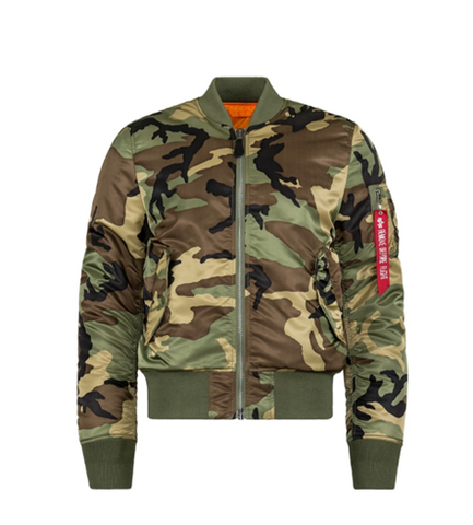 Alpha Industries MA-1 SLIM FIT FLIGHT JACKET WOODLAND CAMO