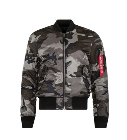 Alpha Industries MA-1 SLIM FIT FLIGHT JACKET TONAL BLACK CAMO