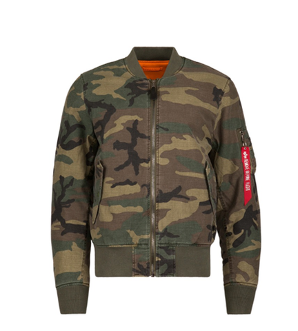 Alpha Industries MA-1 CTN WOODLAND CAMO