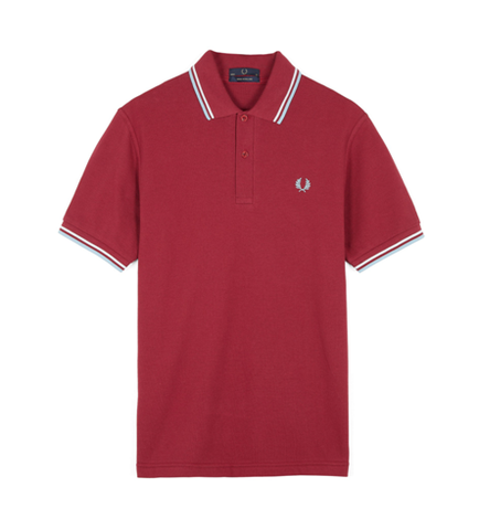 Fred Perry M12 Original Twin Tipped Polo Maroon