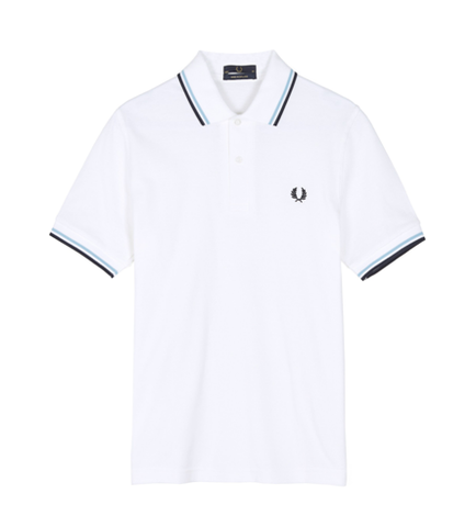 Fred Perry M12 Original Twin Tipped Polo White