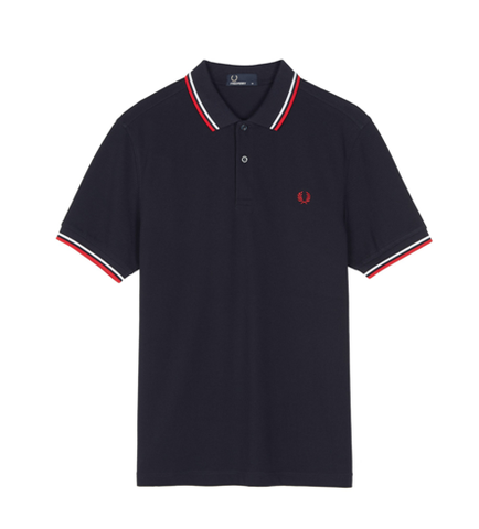 Fred Perry M3600 TWIN TIPPED Polo Navy/White/Red