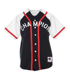 Champion Braided Baseball Jersey Navy White