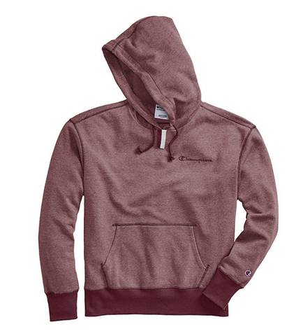 Champion Life Men's Heritage Heather YC Hoodie, Embroidered Logo Maroon