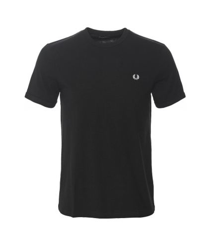 Fred Perry Men's Crew Neck Ringer T-shirt Black