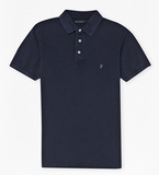 FRENCH CONNECTION SIMPLE GARMENT DYE POLO SHIRT