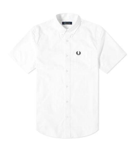 Fred Perry Short Sleeve Oxford Shirt White