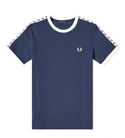 Fred Perry Authentic Taped Ringer Tee Navy