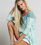Free People Coastal Tee Evergreen