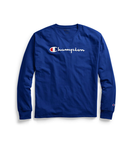 Champion Classic Jersey Long-Sleeve Tee Script Logo Surf the Web