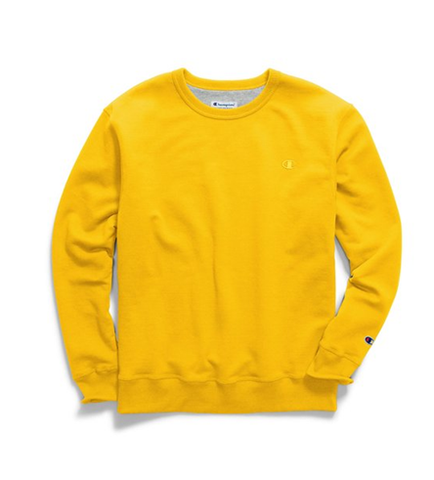 Champion Men's Powerblend Fleece Pullover Crew Team Gold