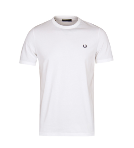 Fred Perry T-Shirt Ringer Tee White