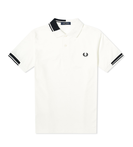 Fred Perry Abstract Collar Polo Shirt White