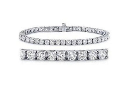 3.00ct [68] Round Brilliant Cut Diamonds | Tennis Bracelet | 18kt White Gold