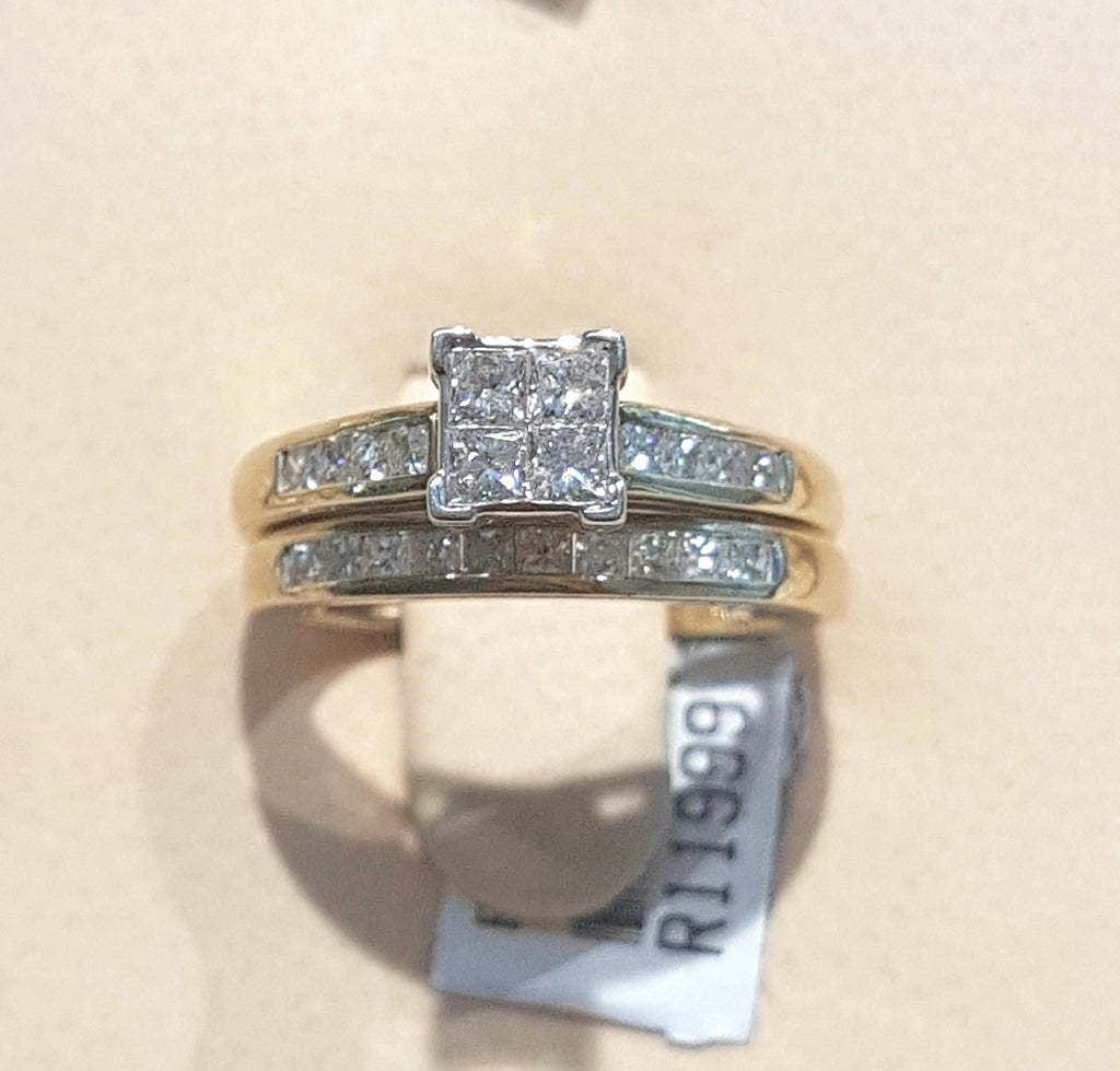 0.750ct Bridal Twinset in 10kt Yellow Gold