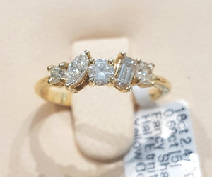 0.60ct [5] Fancy Shaped Diamonds | Designer Band | 18kt Yellow Gold