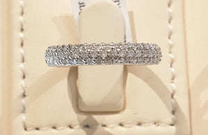 0.50cts Round Brilliant Cut Diamonds | 3 Row Pave Design Band | 18kt White Gold