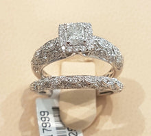 Load image into Gallery viewer, 1.00ct Round Brilliant Cut Diamonds | Designer Bridal Twinset | 14kt White Gold