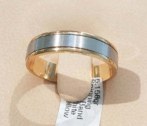 Gents Spinning Band with 18kt White / Yellow Gold | Size U