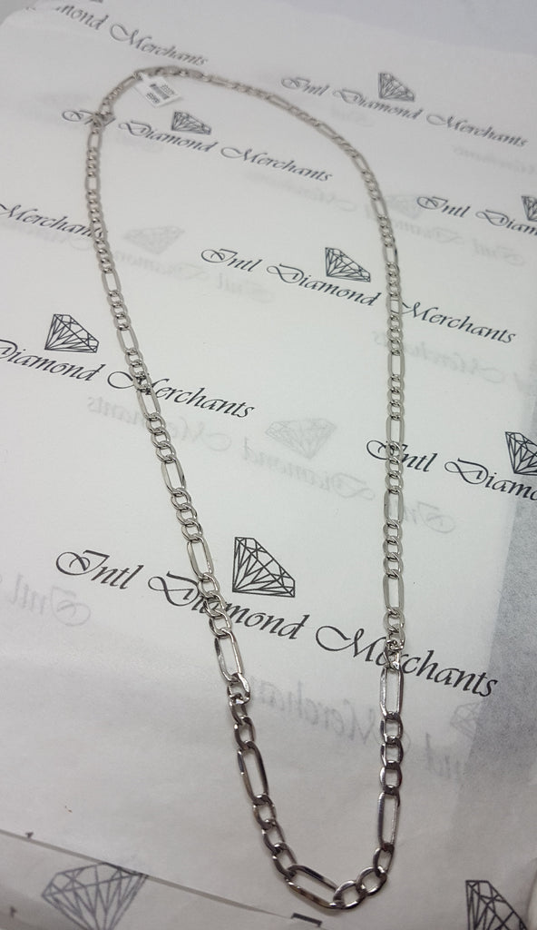 18kt White Gold Link Chain weighing 7.290grams