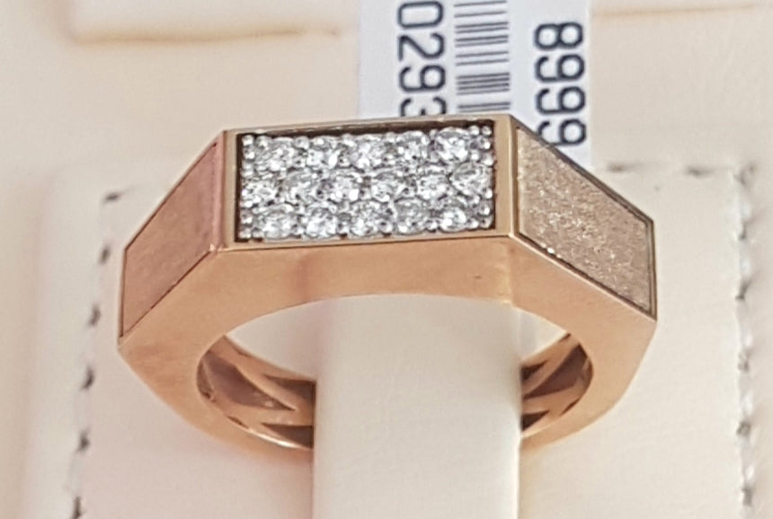 0.32ct [16] Round Brilliant Cut Diamonds | Gents Ring | Size M | 18kt Rose Gold