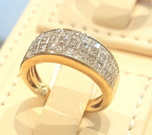 Load image into Gallery viewer, 1.50ct Princess Cut Diamonds | Designer Ring | 14kt Yellow Gold