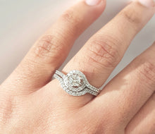 Load image into Gallery viewer, 0.71ct Diamond Ring + Band set in 14kt White Gold