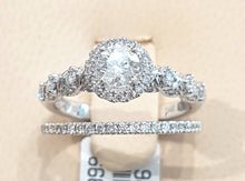 Load image into Gallery viewer, 1.00ct Round Brilliant Cut Diamonds | Design Bridal Twinset | 14kt White Gold