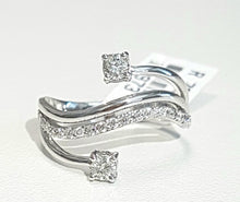 Load image into Gallery viewer, 0.40ct [25] Round Brilliant Cut Diamonds | Swirl Design | 18kt White Gold